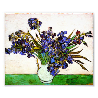 Van Gogh Vase of Irises Print Art Photo