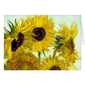 Van Gogh: Vase Twelve Sunflowers Vintage Fine Art Greeting Card