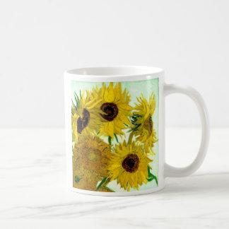 Van Gogh: Vase Twelve Sunflowers Vintage Fine Art Mugs