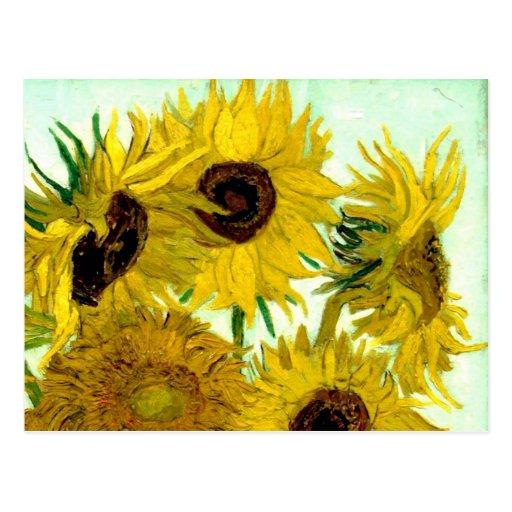 Van Gogh: Vase Twelve Sunflowers Vintage Fine Art Post Card