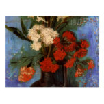 Van Gogh Vase with Carnations and Other Flowers