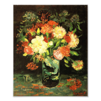 Van Gogh Vase with Carnations Print