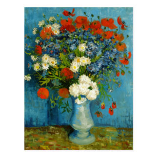 Van Gogh Vase with Cornflowers and Poppies Postcard