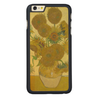 Van Gogh Vase with Fifteen Sunflowers GalleryHD Carved Maple iPhone 6 Plus Case