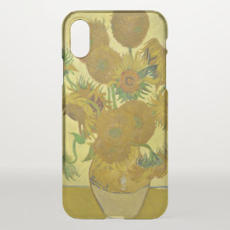 Van Gogh Vase with Fifteen Sunflowers GalleryHD iPhone X Case