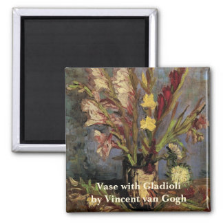 Van Gogh Vase with Gladioli Vintage Floral Flowers Refrigerator Magnets