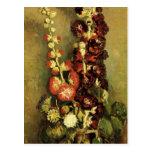 Van Gogh; Vase with Hollyhocks, Vintage Flowers