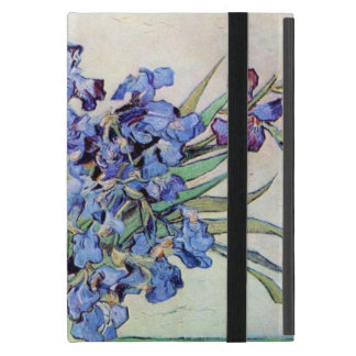 Van Gogh Vase with Irises, Vintage Floral Fine Art Cover For iPad Mini