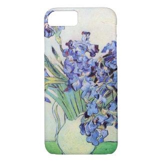 Van Gogh Vase with Irises, Vintage Floral Fine Art iPhone 7 Case