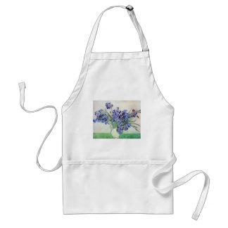 Van Gogh Vase with Irises, Vintage Floral Fine Art Standard Apron