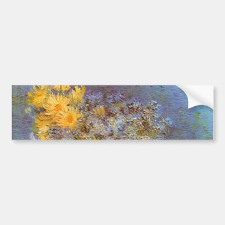 Van Gogh Vase with Lilacs, Daisies and Anemones Bumper Sticker