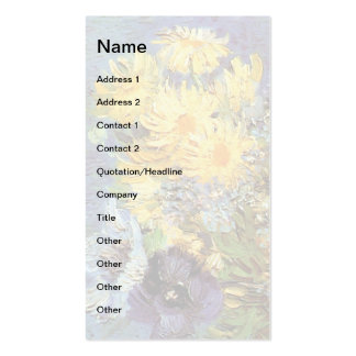 Van Gogh - Vase With Lilacs, Daisies And Anemones Business Card Templates