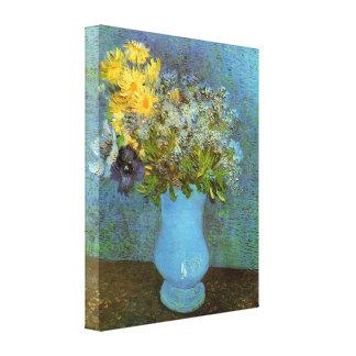 Van Gogh - Vase with Lilacs Daisies and Anemones Gallery Wrap Canvas