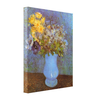 Van Gogh - Vase with Lilacs Daisies and Anemones Stretched Canvas Prints