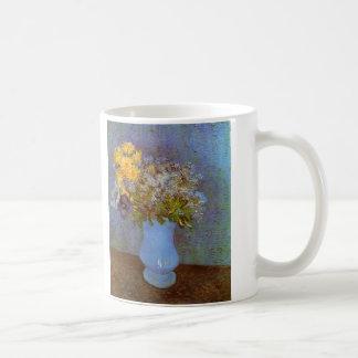 Van Gogh Vase with Lilacs, Daisies and Anemones Basic White Mug