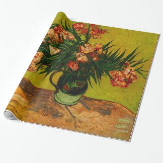 Van Gogh Vase With Oleanders And Books Floral Art