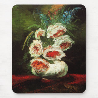Van Gogh Vase with Peonies Mouse Pad