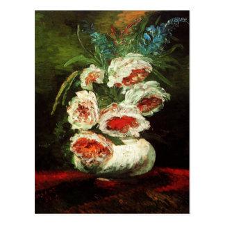 Van Gogh Vase with Peonies Note Card Postcard