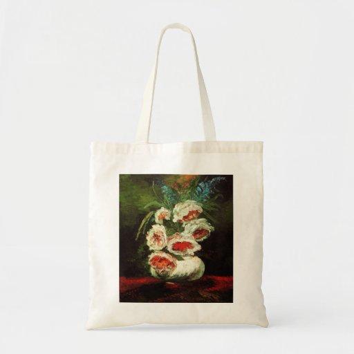 Van Gogh Vase with Peonies Tote Bag