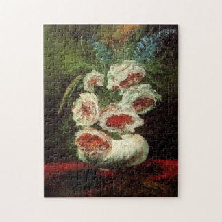 Van Gogh Vase with Peonies, Vintage Fine Art Jigsaw Puzzle