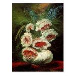 Van Gogh Vase with Peonies, Vintage Floral Flowers