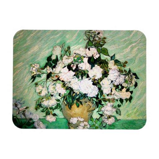 Van Gogh Vase with Pink Roses Magnet