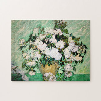 Van Gogh Vase with Pink Roses Puzzle