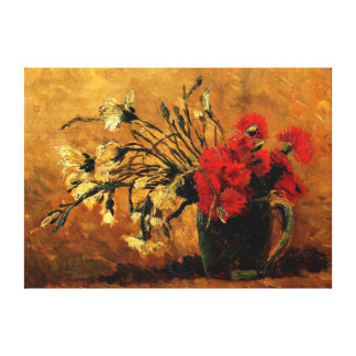 Van Gogh - Vase with Red and White Carnations Canvas Print