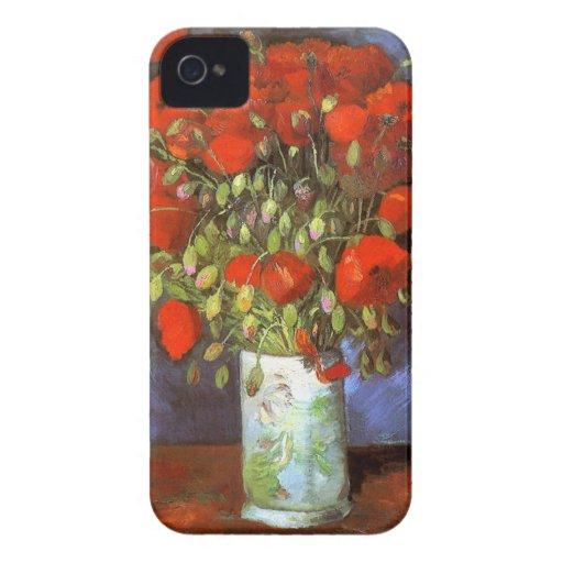 Van Gogh: Vase with Red Poppies Blackberry Case