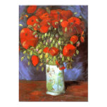 Van Gogh: Vase with Red Poppies Personalized Announcement