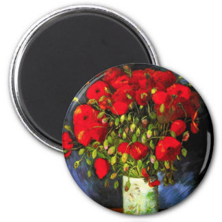 Van Gogh Vase With Red Poppies Magnet
