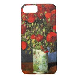 Van Gogh Vase with Red Poppies, Vintage Fine Art iPhone 7 Case