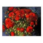 Van Gogh; Vase with Red Poppies, Vintage Flowers Postcard