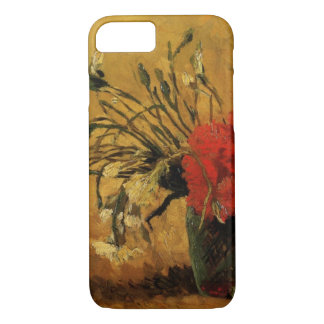Van Gogh Vase with Red White Carnations on Yellow iPhone 7 Case