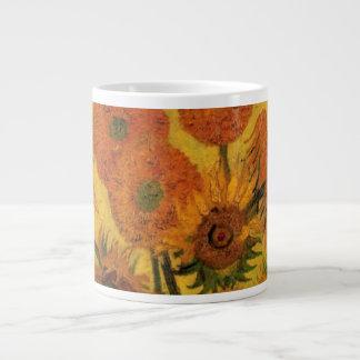 Van Gogh Vase with Sunflowers, Fine Art Flowers Large Coffee Mug