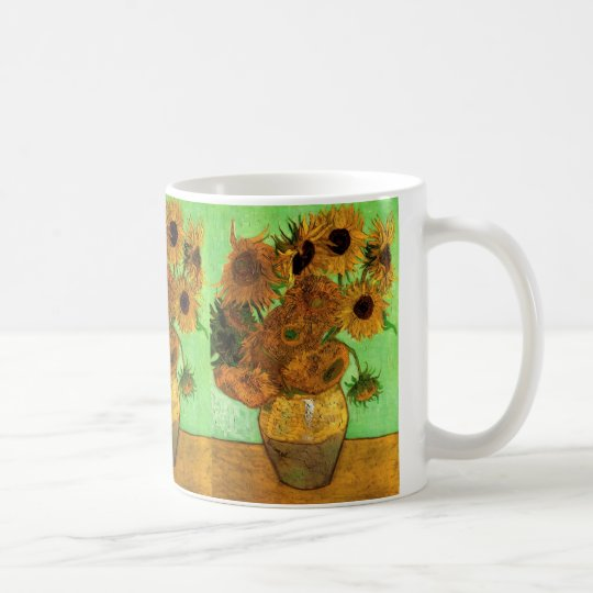 Van Gogh Vase with Sunflowers, Floral Fine Art Coffee Mug
