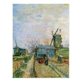 Van Gogh Vegetable Garden in Montmartre, Fine Art Postcard