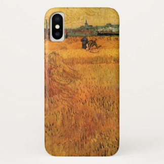 Van Gogh View from Wheat Fields in Arles, Fine Art iPhone X Case