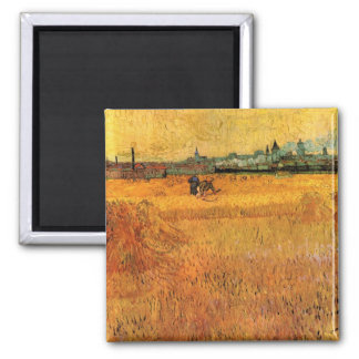 Van Gogh View from Wheat Fields in Arles, Fine Art Magnet