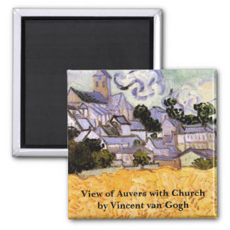Van Gogh; View of Auvers with Church Magnets