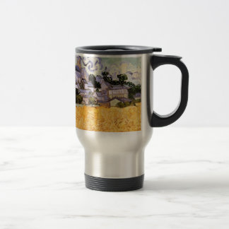 Van Gogh; View of Auvers with Church Stainless Steel Travel Mug