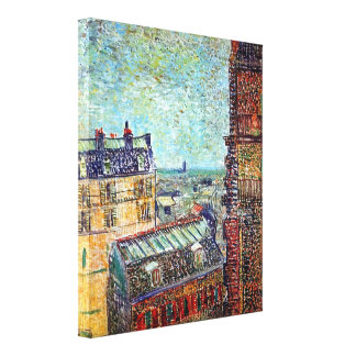 Van Gogh - View Of Paris From Vincents Room Canvas Print