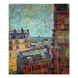 Van Gogh - View Of Paris From Vincents Room Poster