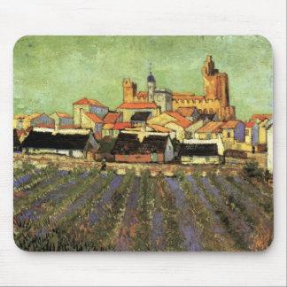 Van Gogh View of Saintes Maries, Vintage Fine Art Mouse Pad