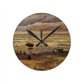 Van Gogh View of Sea at Scheveningen, Fine Art Clocks