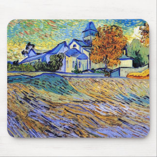 Van Gogh - View of the Asylum and Chapel Mouse Pad