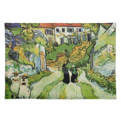 Van Gogh - Village Street and Steps in Auvers Place Mats