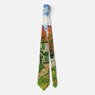 Van Gogh Village Street, Vintage Fine Art Tie