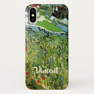 Van Gogh Vineyards with Auvers, Vintage Fine Art iPhone X Case