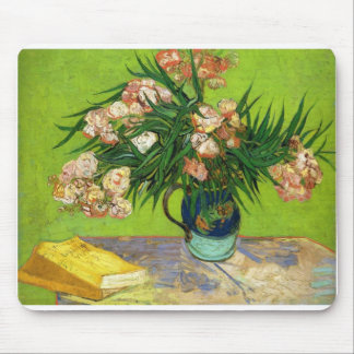 Van Gogh Vintage Painting Blossoms Flowers Vines Mouse Pads